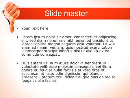 Шаблон PowerPoint Отрицательный жест (дизлайк) - Второй слайд