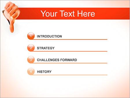 Шаблон для презентации Отрицательный жест (дизлайк) - Третий слайд