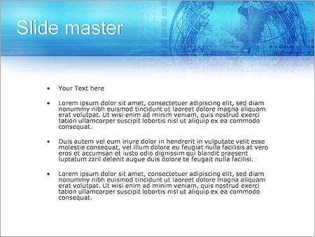 Шаблон PowerPoint Оператор связи - Второй слайд