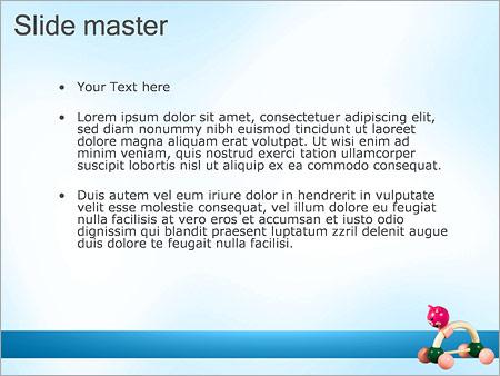 Шаблон PowerPoint Игрушка - Второй слайд