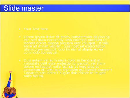 Шаблон PowerPoint День рождения собаки - Второй слайд