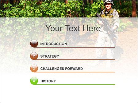 Шаблон для презентации Солдат в прицеле - Третий слайд