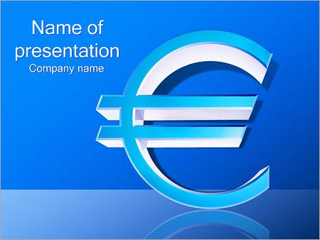 Шаблон презентации Знак евро - Титульный слайд
