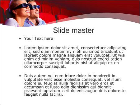 Шаблон PowerPoint Пара в кино - Второй слайд