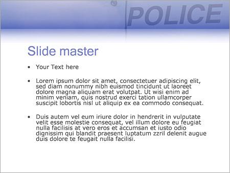 Шаблон PowerPoint Американский полицейский - Второй слайд