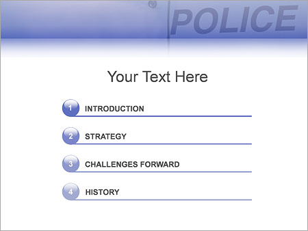Шаблон для презентации Американский полицейский - Третий слайд