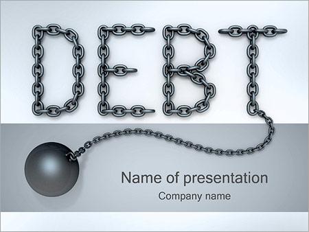 Шаблон презентации Кредитная задолженность - Титульный слайд