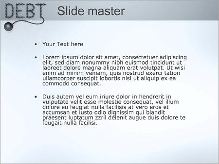Шаблон PowerPoint Кредитная задолженность - Второй слайд