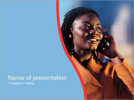 Шаблон презентации Разговор по телефону - Титульный слайд