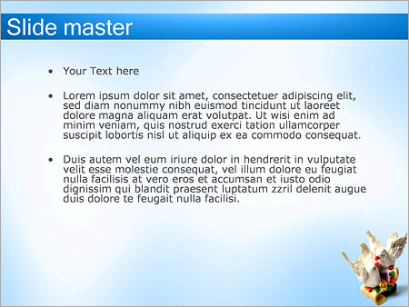 Шаблон PowerPoint Статуэтка два голубя - Второй слайд