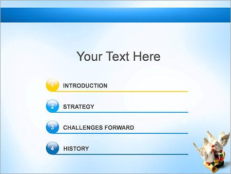 Шаблон для презентации Статуэтка два голубя - Третий слайд