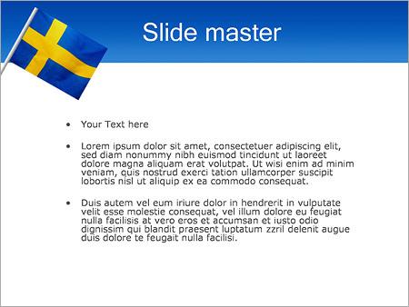 Шаблон PowerPoint Шведский флаг - Второй слайд