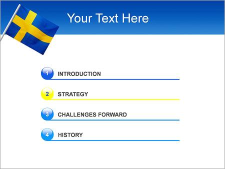 Шаблон для презентации Шведский флаг - Третий слайд