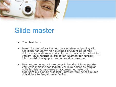Шаблон PowerPoint Фотографирование - Второй слайд