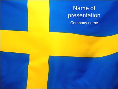 Шаблон презентации Флаг Швеции - Титульный слайд