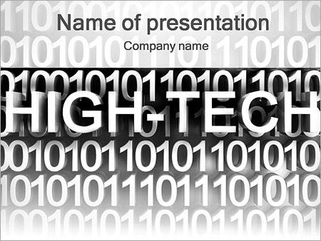 Шаблон презентации Высокие технологии (High-tech) - Титульный слайд