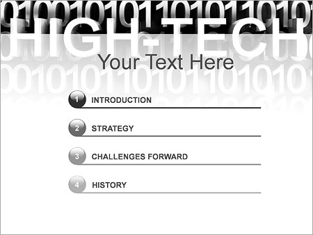 Шаблон для презентации Высокие технологии (High-tech) - Третий слайд