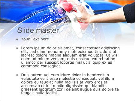 Шаблон PowerPoint Мойка автомобиля - Второй слайд
