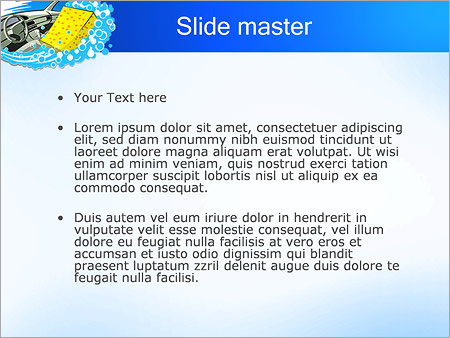 Шаблон PowerPoint Автомобильная мойка - Второй слайд