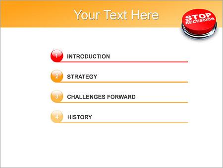 Шаблон для презентации Кнопка СТОП - Третий слайд