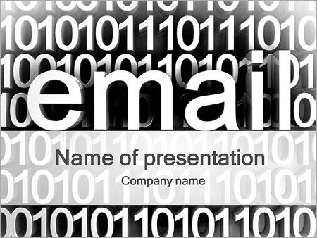 Шаблон презентации E-Mail почта - Титульный слайд