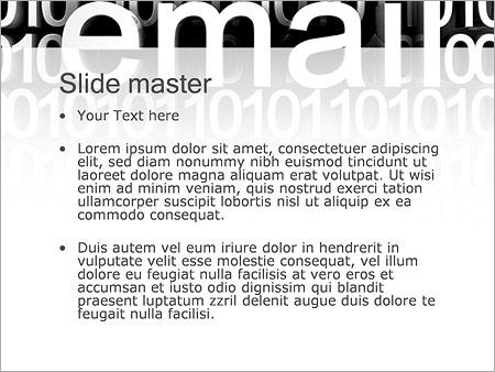 Шаблон PowerPoint E-Mail почта - Второй слайд