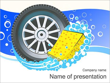 Шаблон презентации Автомобильное колесо - Титульный слайд