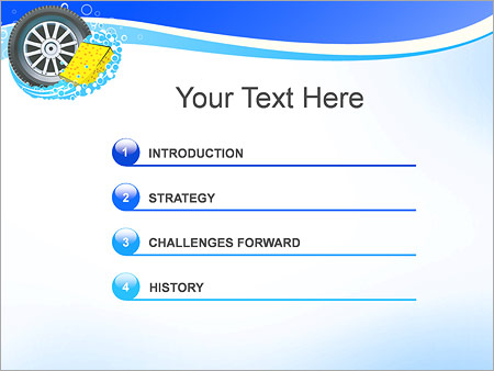 Шаблон для презентации Автомобильное колесо - Третий слайд