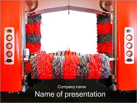 Шаблон презентации Современная автоматическая автомойка - Титульный слайд