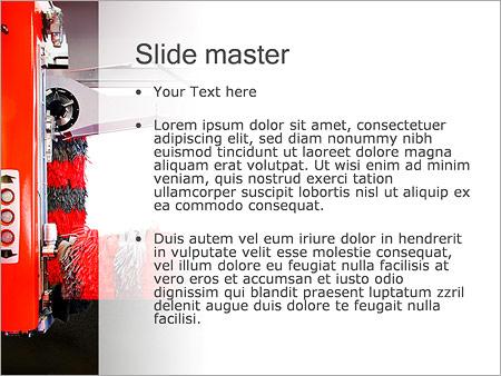 Шаблон PowerPoint Современная автоматическая автомойка - Второй слайд