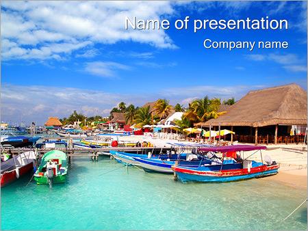Шаблон презентации Пляж с яхтами - Титульный слайд