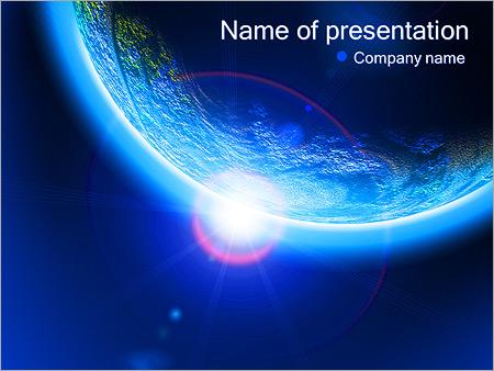 Шаблон презентации Планета Земля из космоса - Титульный слайд