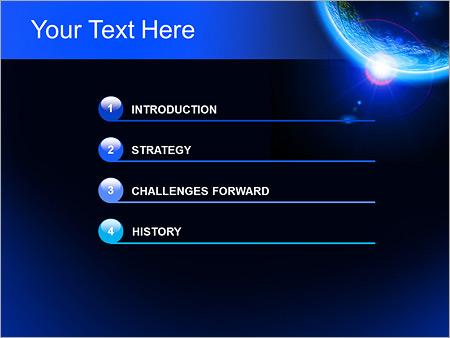 Шаблон для презентации Планета Земля из космоса - Третий слайд