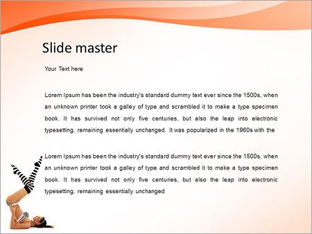 Шаблон PowerPoint Утренняя зарядка, тренировка - Второй слайд