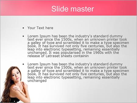 Шаблон PowerPoint Топ-модель - Второй слайд