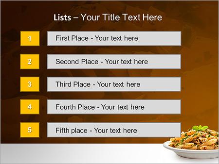Шаблон для презентации Макароны на тарелке - Третий слайд