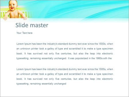 Шаблон PowerPoint Ребенок в кроватке - Второй слайд