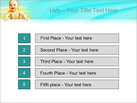Шаблон для презентации Ребенок в кроватке - Третий слайд