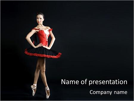 Шаблон презентации Профессиональная танцовщица - Титульный слайд