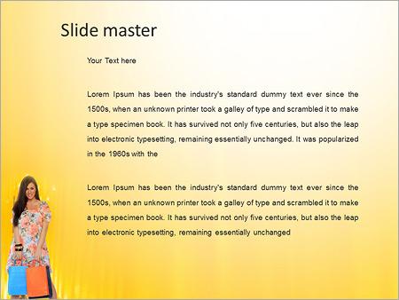 Шаблон PowerPoint Шопинг - Второй слайд