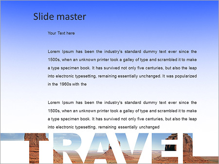 Шаблон PowerPoint Путешествие - Второй слайд