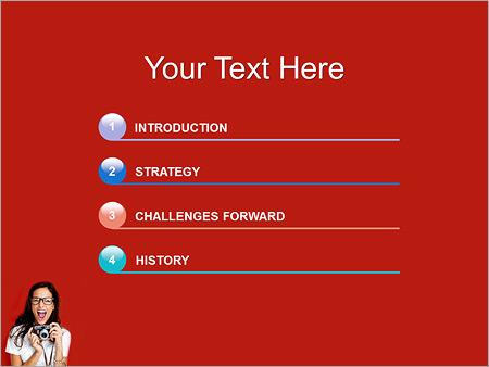 Шаблон для презентации Девушка фотограф - Третий слайд