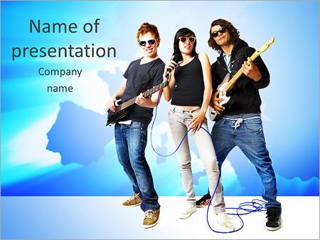 Шаблон презентации Рок группа - Титульный слайд