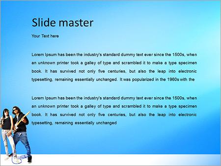 Шаблон PowerPoint Рок группа - Второй слайд