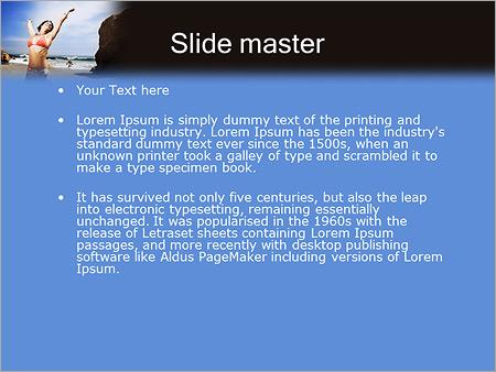Шаблон PowerPoint Девушка на море - Второй слайд