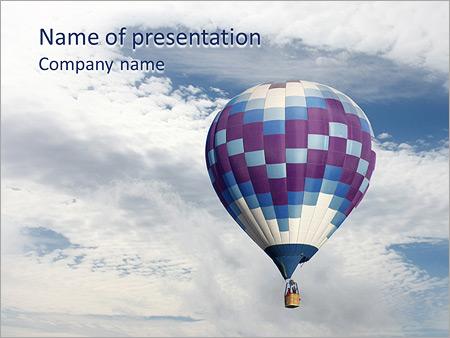 Шаблон презентации Воздушный шар в небе - Титульный слайд