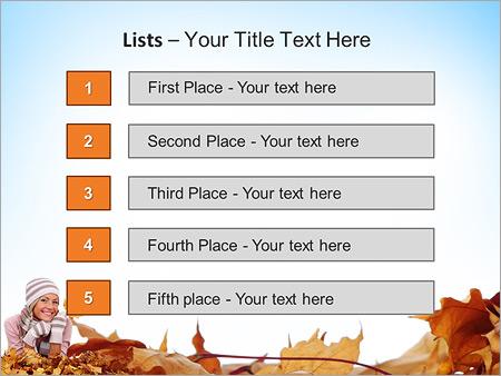 Шаблон для презентации Девушка с желтыми листьями - Третий слайд