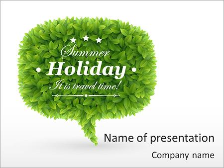 Шаблон презентации Лето - Титульный слайд