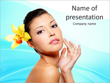 Шаблон презентации Салон красоты - Титульный слайд
