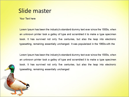 Шаблон PowerPoint Дикая утка - Второй слайд